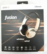 New. Groove FUSION Wired/Wireless On-Ear Headphones - Gold (GV-BT400-GD)