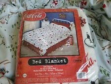 Coca Cola polar Bear Bed Blanket *Rare* And Brand New!