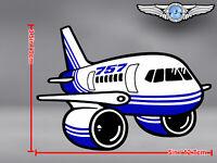 BOEING B 757 B757 CUT TO SHAPE DECAL / STICKER
