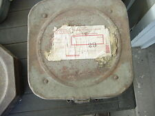 HEAVY METAL 10.75 INCH 35MM FILM REEL SHIPPING CAN WB STUDIO W FILM REEL
