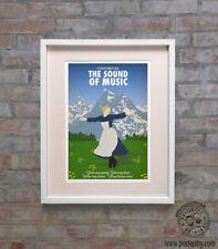 SOUND OF MUSIC - Minimal Film Movie Poster Posteritty Print Julie Andrews Hills