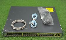 CISCO WS-C3750G-48TS-S 48xGE+ 4SFP Switch w/CAB-STACK-50CM  - 1YrWtyTaxInv
