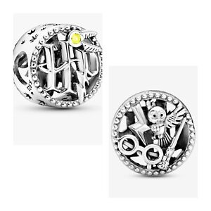 HARRY POTTER CHARM OPENWORK ICONS GENUINE 925 STERLING SILVER GIFT 💜💛💜