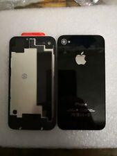 Vitre arrière iPhone 4S Noir + Logo