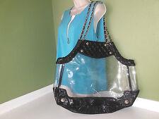 Large Clear Transparent Women Chain Designer Big Beach Shoulder Bag