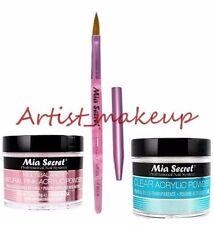 Mia Secret Acrylic Nail Powder Clear + Multibalance 2 oz + Kolinsky Brush# 8 OR
