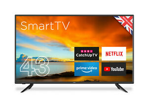 """CELLO 43"""" INCH SMART LED TV FREEVIEW HD, WIFI, 2 x HDMi, USB,1080p"""