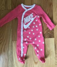 NIKE BABY INFANT GIRLS FOOTED SLEEPER 3 MONTHS NWOT