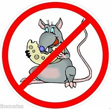 NO RATS CHEESE HARD HAT HELMET TOOLBOX LAPTOP BUMPER DECAL STICKER MADE IN USA