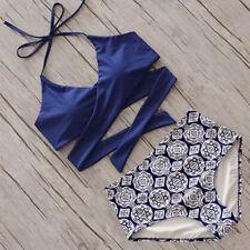 L New Women Bikini Set Push-up Padded Swimsuit Swimwear Triangle Bathing Suit