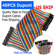40pcs 30cm Male To Female Dupont Wire Jumper Cable for Arduino Breadboard
