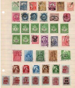 Group Stamps of Hungary, MAGYAR POSTA , Used & Unused Overprints rarities
