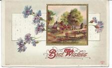 Postcard -   Best Wishes Greeting Card circa 1910