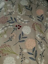 Berry Floral, 100% Cotton Fabric Scrap Quilt Sew Craft