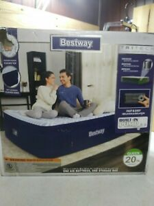 "Bestway Queen Air Matress with Built in Pump 20"" High."