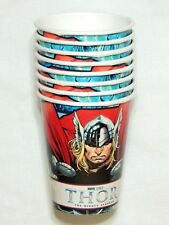 NEW ~THOR THE MIGHTY AVENGER 8 PAPER CUPS 9 OZ.  PARTY SUPPLIES