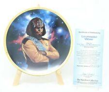 Star Trek The Next Generation Lieutenant Worf Collector Plate w/Coa
