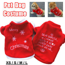 Winter Christmas Pet Clothes Dog Sweater Shirt Puppy Pullover Hoodies  YI UK D2