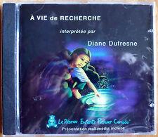 Rare CD SINGLE du Canada * À vie de recherche par DIANE DUFRESNE paru en 2000