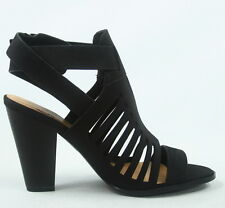 NEW Women's Buckle Strappy Open Toe Chunky High Heel Sandal Shoes Size 6 - 11