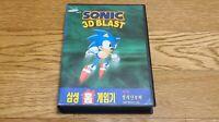 Ultra Rare Samsung SEGA Genesis Super Gamboy Sonic 3D Blast Korean Version Game