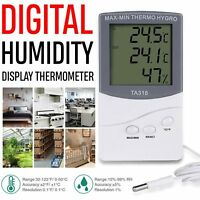 LCD Indoor Outdoor Thermometer Digital Hygrometer Humidity Weather Display Meter