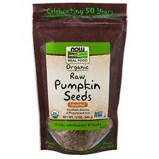 NOW Foods Pumpkin Seeds, Raw Organic, 12 oz.