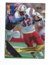 1993 Wild Card 5 Stripe #140 Leonard Russell Patriots