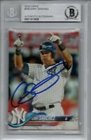 Gary Sanchez New York Yankees 2018 Topps Autographed Signed Card Beckett BAS