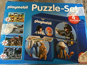 °°° PLAYMOBIL °°° PUZZLE °° Puzzle Set  °°° 4 Puzzel °°° 2 Komplett °°°