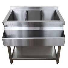 Cocktail Bar Station Equipment Stainless Steel Bar Setup Sink Ice Well
