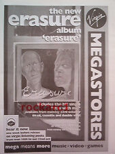 ERASURE Album 1995 (Virgin) UK Poster size Press ADVERT 16x12""