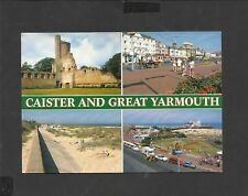 Colour Salmon Multi View  postcard  Caister on Sea -Great Yarmouth unposted