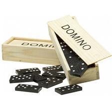 Domino Gioco Strategia Tavolo 28 Pezzi Bambini Nero Scatolo Società Tessere 236