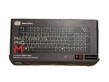 Cooler MasterKeys Pro M White LEDs Cherry MX Red Switch Wired Keyboard