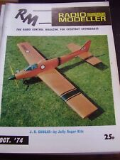 AIRCRAFT BOAT RADIO MODELLER OCTOBER 1974 ANYMOUSE FLY BABY DINGBAT