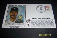 1987 New York Yankees DON MATTINGLY Gold Glove Memorative SILK First Day Cover