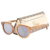 Sunglasses Women Bamboo Wood Vintage Polarizing Lenses Uv400 Classic Eyewear