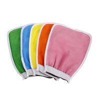 2 x Bath Shower Scrub Glove Body Exfoliating Cloth kin Massage Sponge Spa QJ