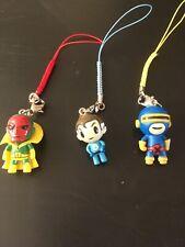 3x Marvel TOKIDOKI Frenzies ZIPPER PULL Fantastic Four  Avengers Vision Cyclops
