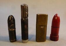 4 Stück Feuerzeug Benzinfeuerzeug Taschenfeuerzeug KW Streichfeuerzeug um 1920