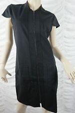 YARRA TRAIL LONG WEEKEND black cap sleeve zipper stretch shift dress size S BNWT
