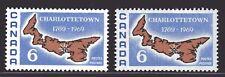1969 Canada SC# 499-499i Charlottetown Bicentenni. Map of P.E.I. Lot# 401 M-NH