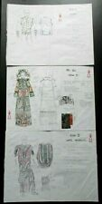 3 Xena Warrior Princess costume design sketches - Pao Ssu, Healer, Sariel