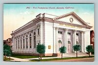 Alameda CA, First Presbyterian Church, Vintage California Postcard