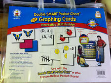 CARSON DELLOSA DOUBLE SMART POCKET CHART GRAPHING CARDS new