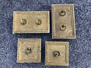 Vintage Crabtree Porcelain/brass Dolly Switch x 4