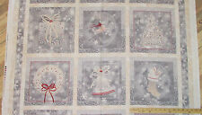 "Holiday Elegance Reindeer Quilting Treasures Christmas Fabric 23"" Panel #23877-K"