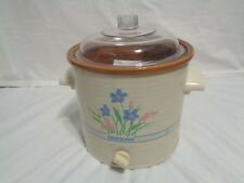 Vintage 1989 RIVAL Slow Cooker CROCK POT 3.5 Qt MODEL 3100P FLORAL Flowers USA