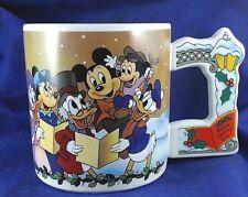 Disney Mickey's Christmas Carol Coffee Mug Applause Flat Handle Scrooge McDuck